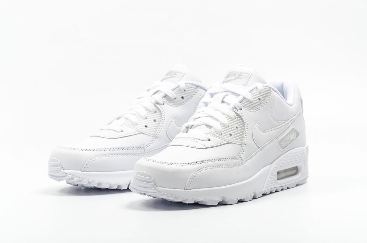 ナイキAIR MAX 90 LEATHER WHITE(エアマックス90レザーホワイト)白