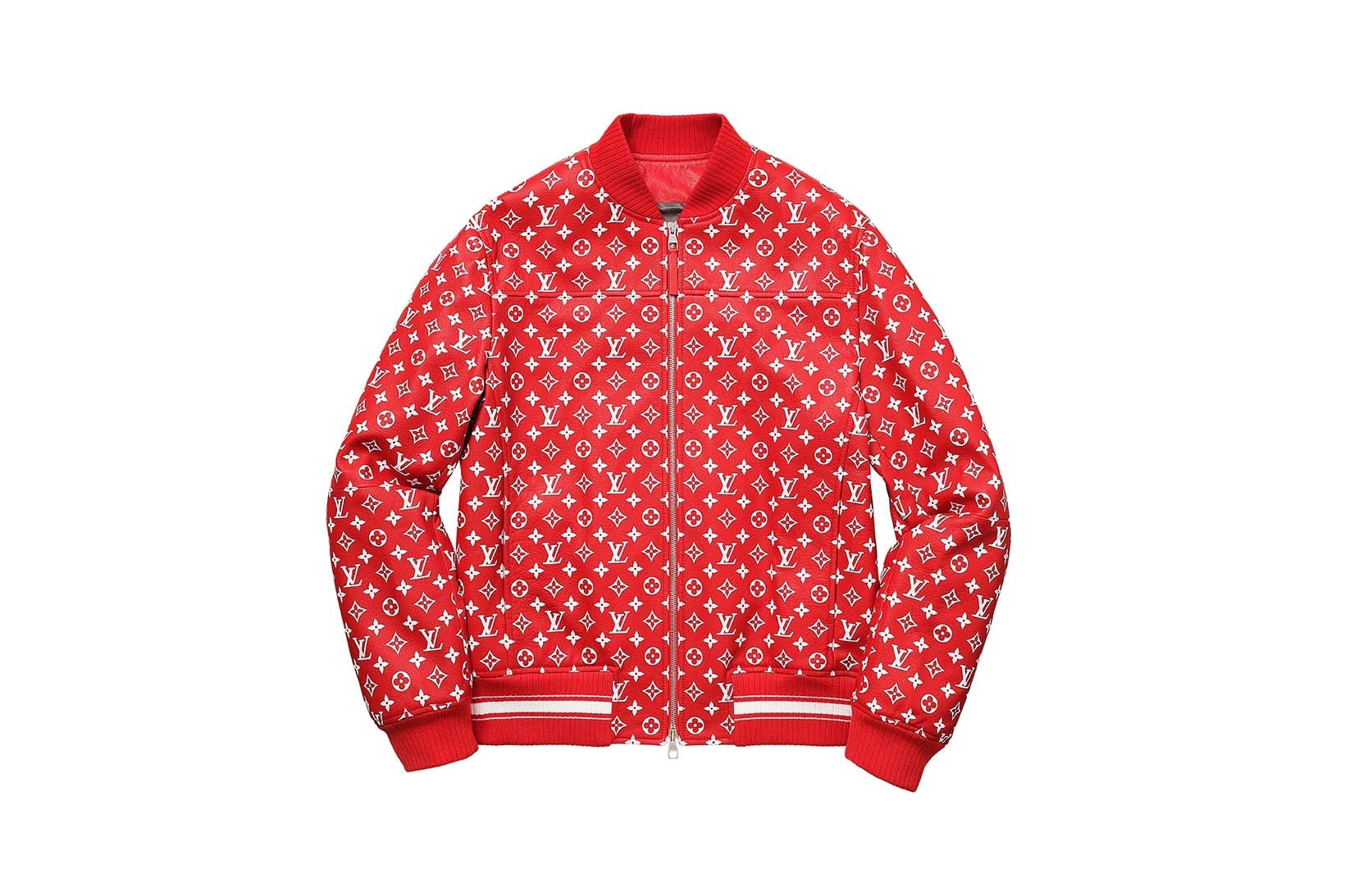 Supreme(シュプリーム)×Louis Vuitton(ルイ・ヴィトン) / レザー ベースボール ジャケット(Leather Baseball Jacket)