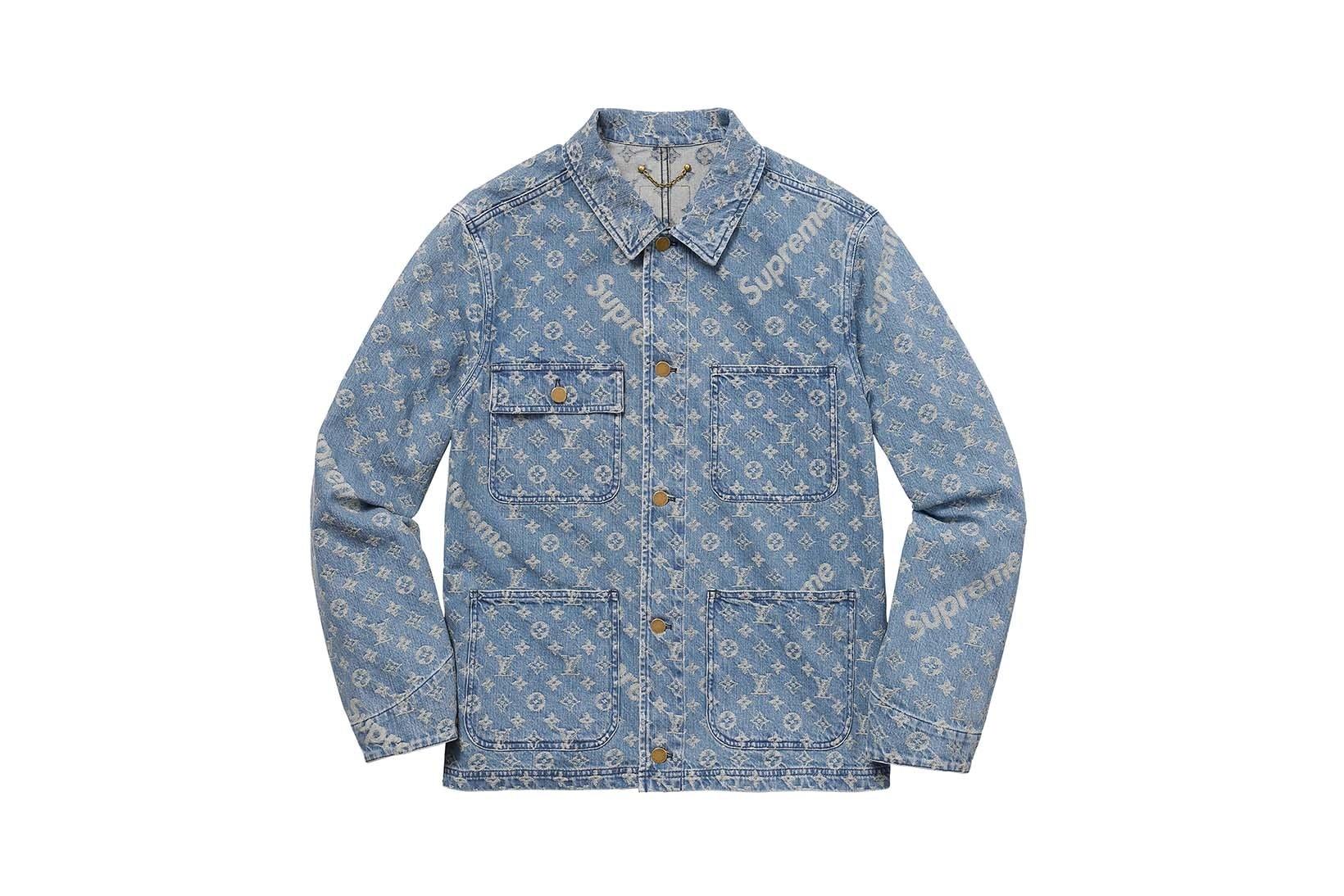 Supreme(シュプリーム)×Louis Vuitton(ルイ・ヴィトン) / ジャカード デニム チョア コート(Jacquard Denim Chore Coat)