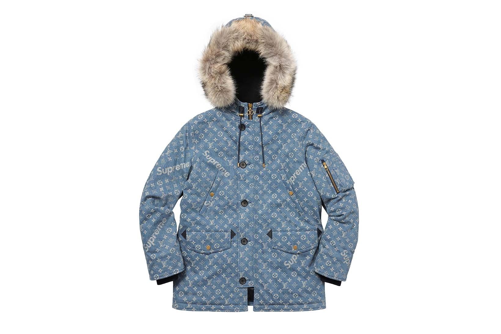 Supreme(シュプリーム)×Louis Vuitton(ルイ・ヴィトン) / ジャカード デニム N-38 パーカー(Jacquard Denim N-3B Parka)