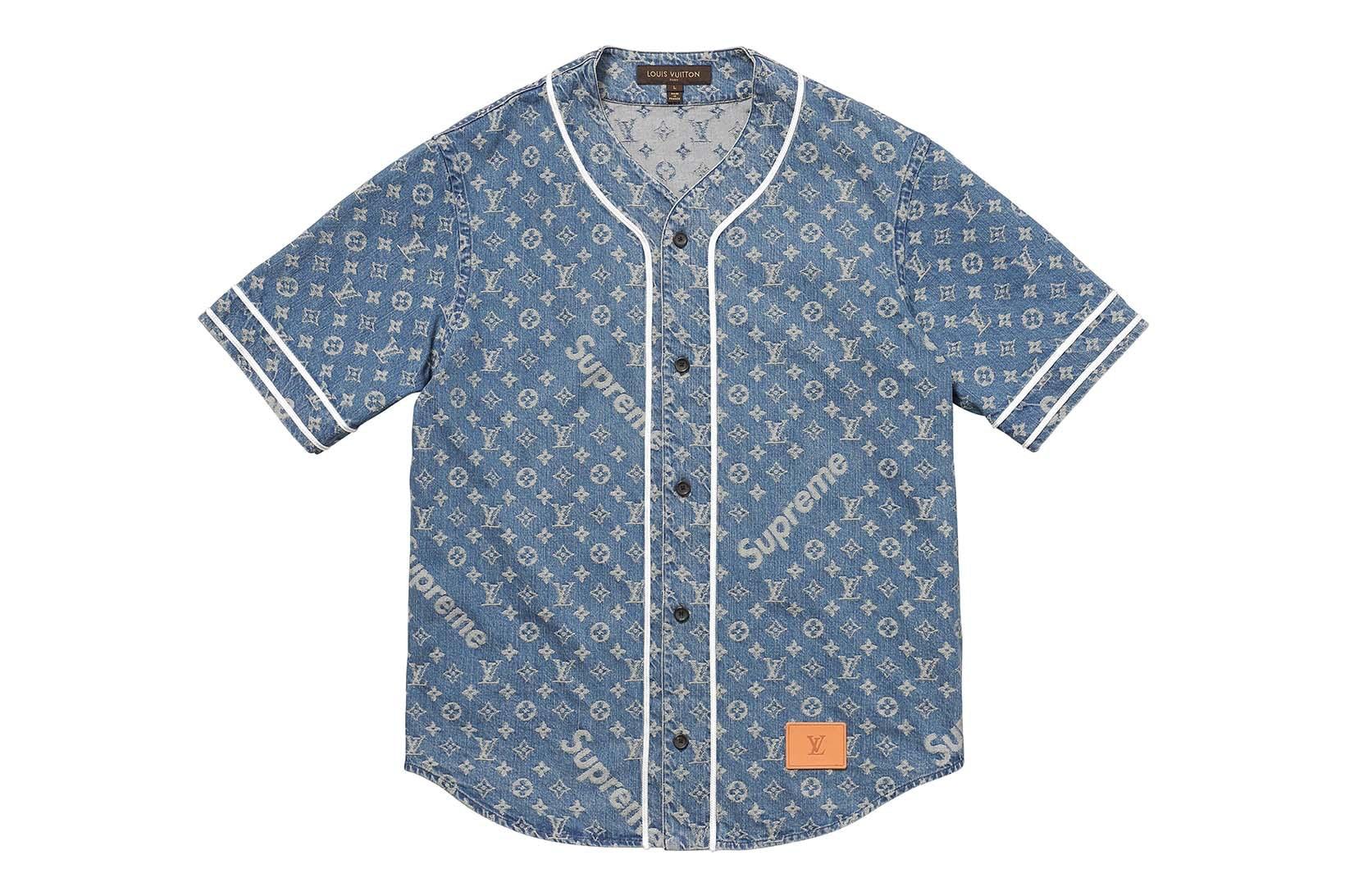 Supreme(シュプリーム)×Louis Vuitton(ルイ・ヴィトン) / ジャカード デニム ベースボール ジャージー(Jacquard Denim Baseball Jersey)