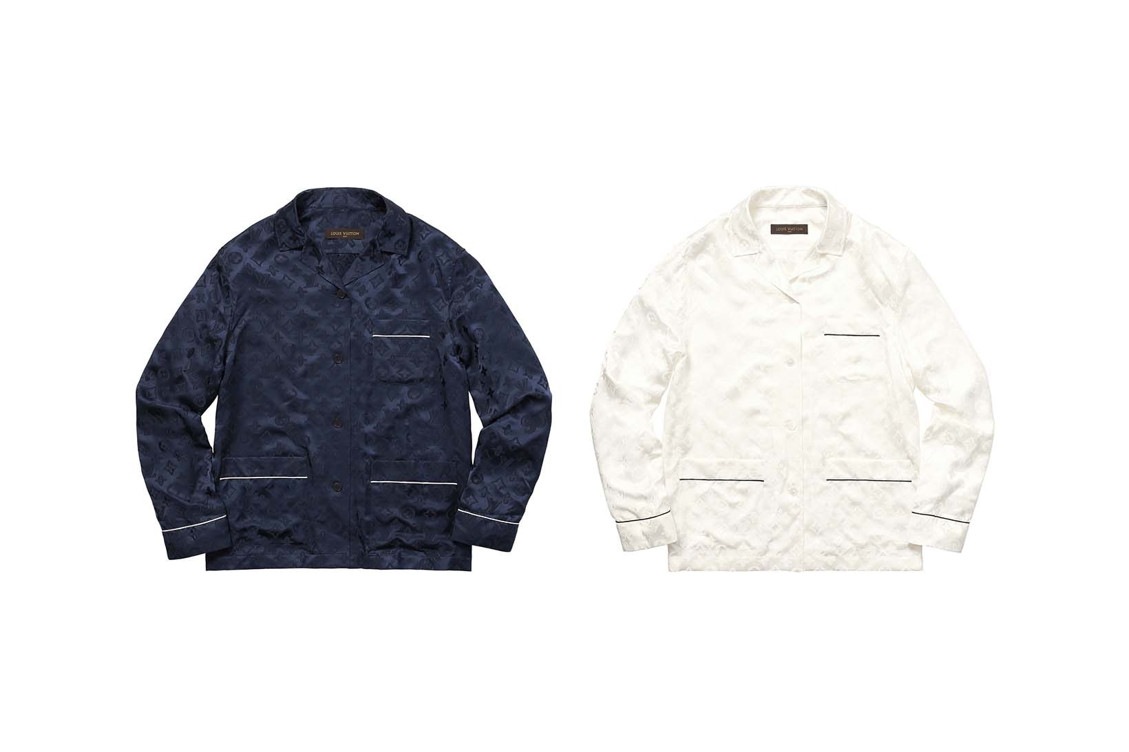 Supreme(シュプリーム)×Louis Vuitton(ルイ・ヴィトン) / ジャカード シルク パジャマ シャツ(Jacquard Silk Pajama Shirt)
