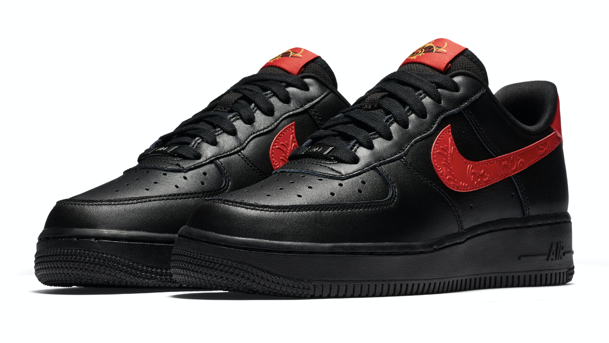 NIKE AIR FORCE 1 '07 F(ナイキ エア フォース 1 07 F)BLACK/UNIVERSITY RED