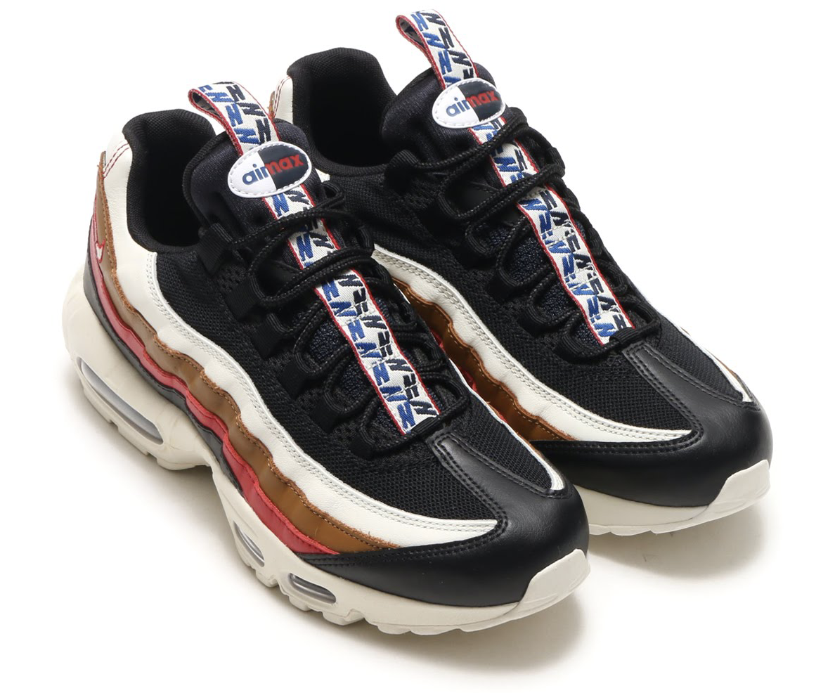 NIKE AIR MAX 95 TT PRM (ナイキ エア マックス 95 TT プレミアム) BLACK/SAIL-ALE BROWN-GYM RED