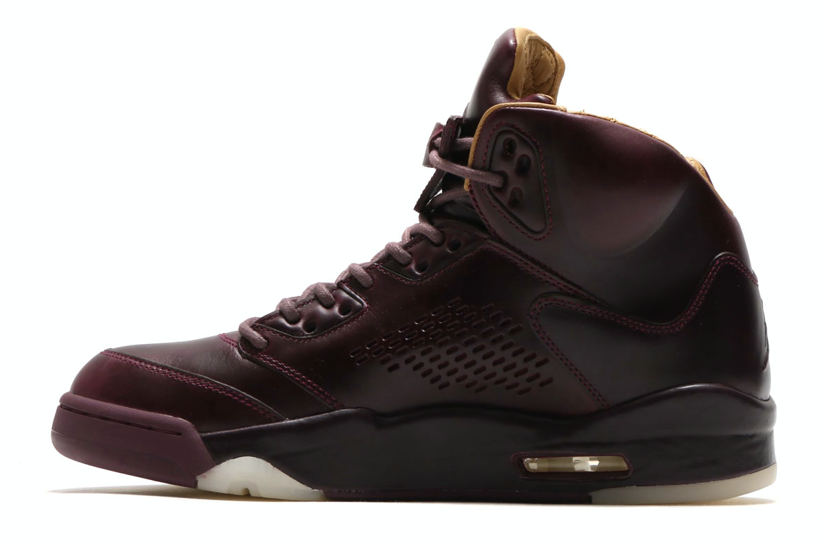 NIKE AIR JORDAN 5 RETRO PREM(ナイキ エア ジョーダン 5 レトロ プレミアム)BORDEAUX/BORDEAUX-SAIL-ELEMENTAL GOLD