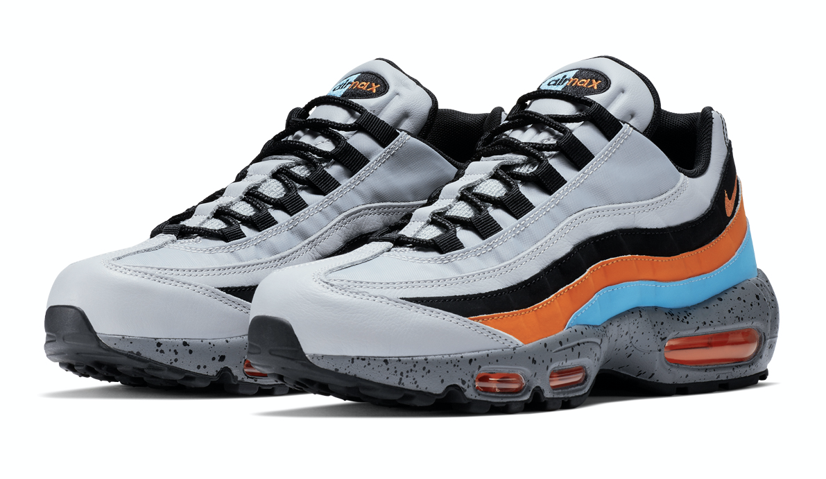 NIKE AIR MAX 95 PRM (ナイキ エア マックス 95 プレミアム) WOLF GREY/SAFETY ORANGE-UNIVERSITY BLUE