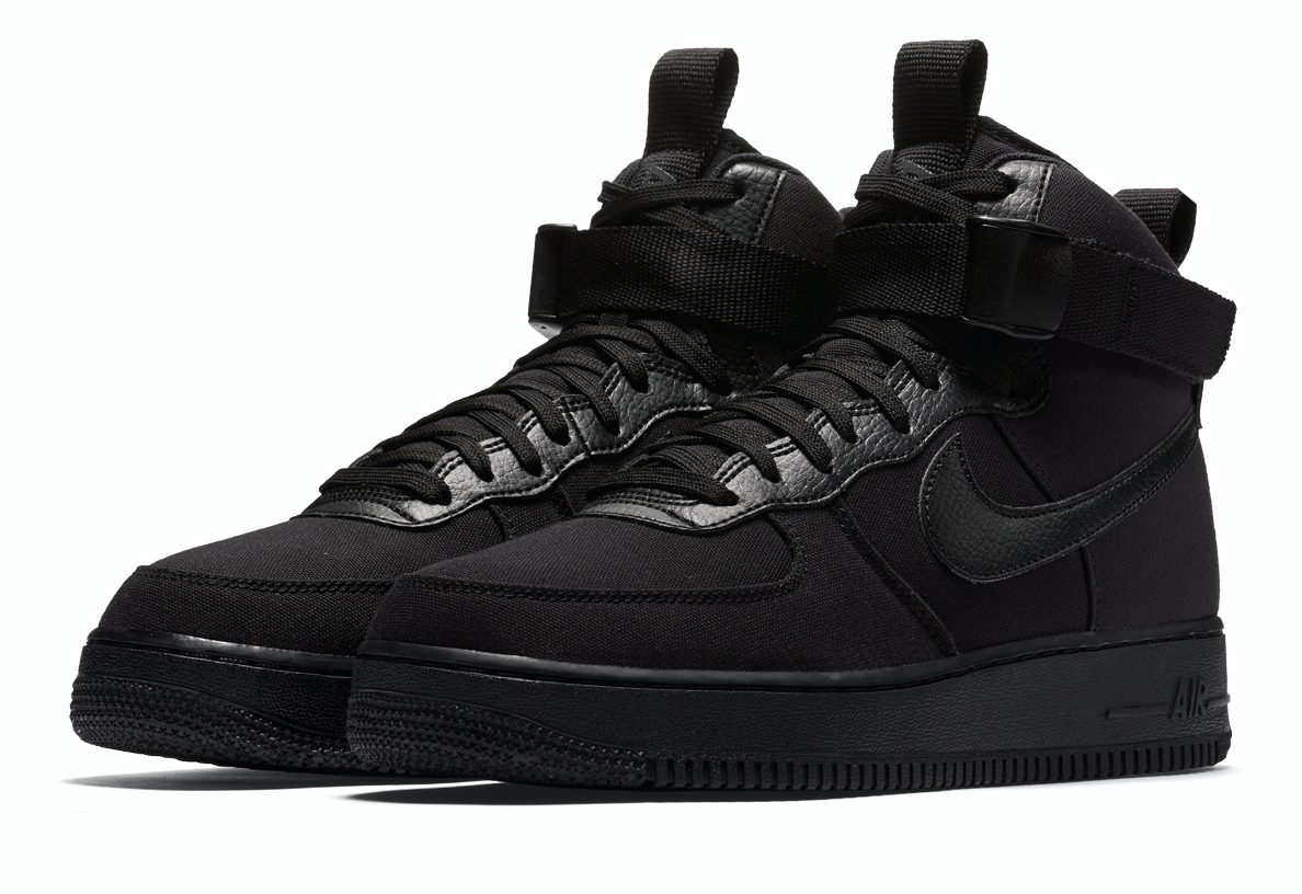 NIKE AIR FORCE 1 HIGH '07 CANVAS (ナイキ エア フォース 1 ハイ 07 キャンバス) BLACK/BLACK-ANTHRACITE