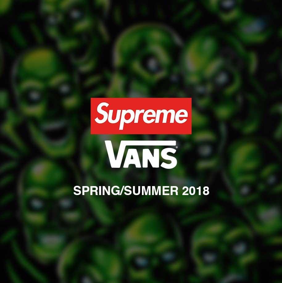 シュプリーム×バンズ スケートハイ 2018春夏