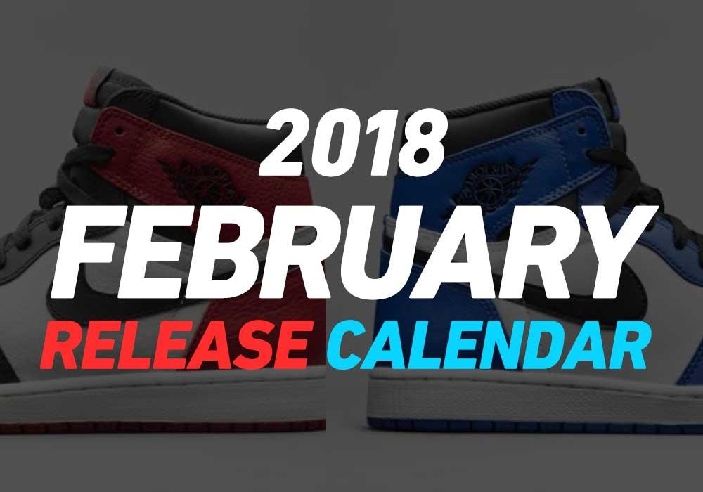 【2月発売スニーカー】2018年2月に発売予定の人気・新作スニーカーカレンダー