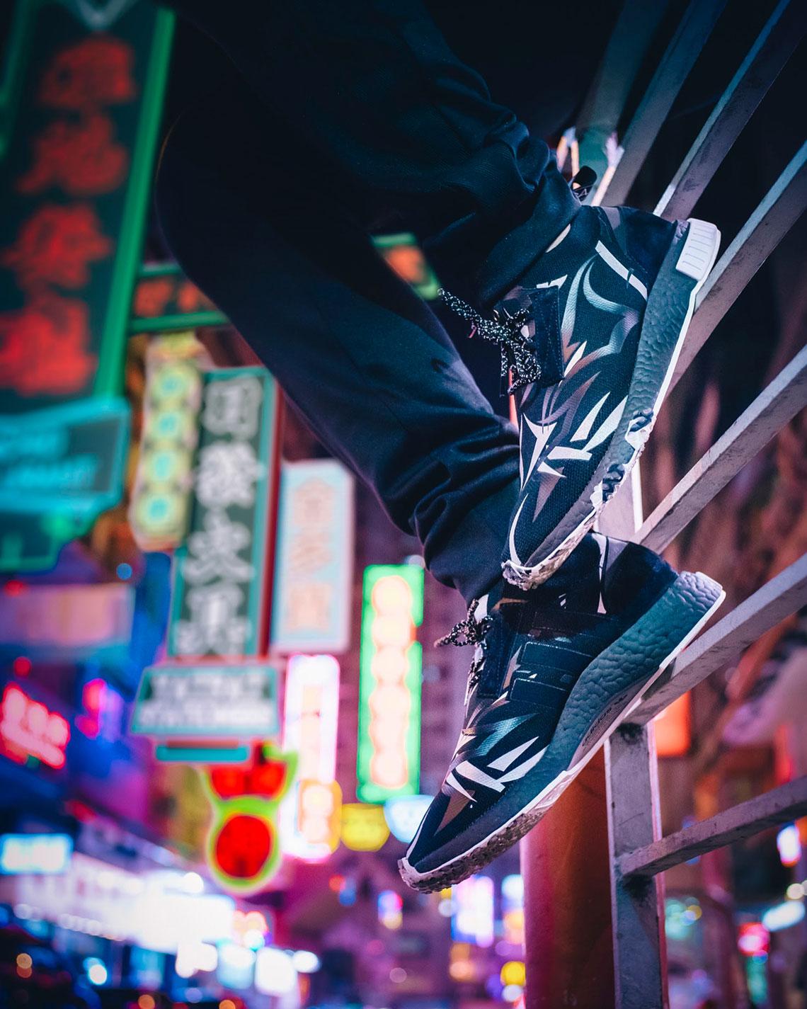 ジュース × アディダス コンソーシアム NMD レーサー コア ブラック/ホワイト【1/20発売】