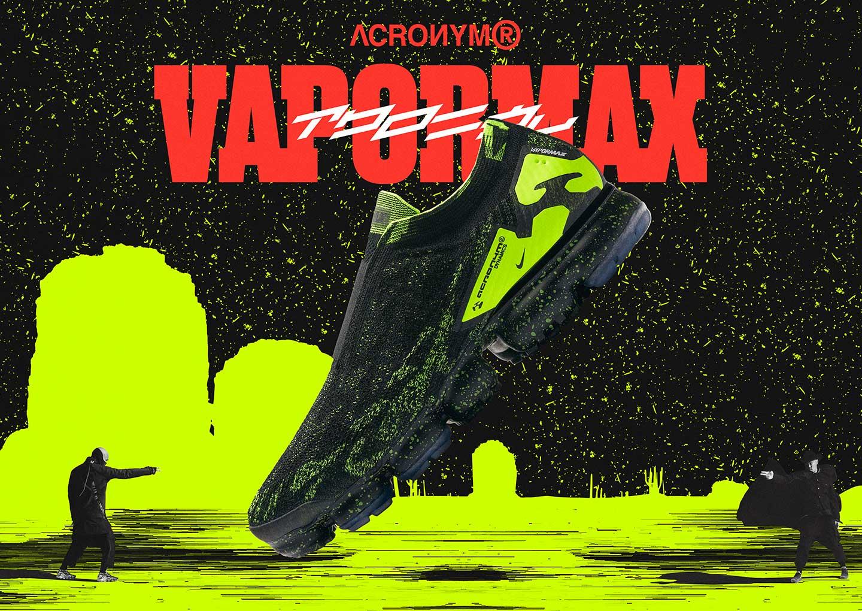 アクロニウム × ナイキ エア ヴェイパーマックス モック2 ブラック/ボルト