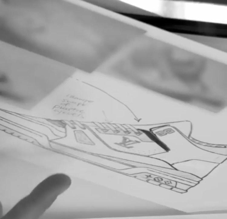 ルイ・ヴィトン(ヴァージル・アブロー)×ナイキ エアジョーダン3