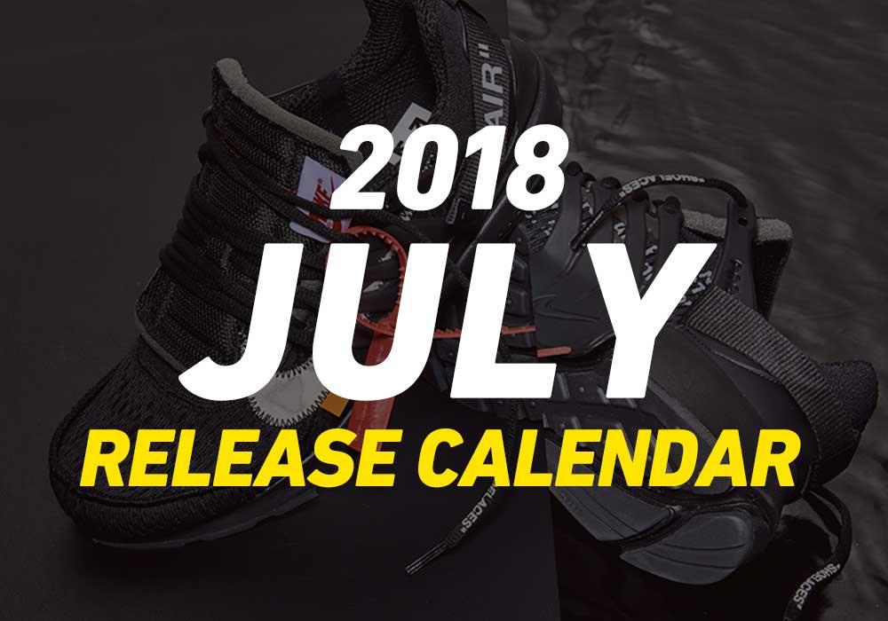 【7月発売スニーカー】2018年7月に発売予定の人気・新作スニーカーカレンダー
