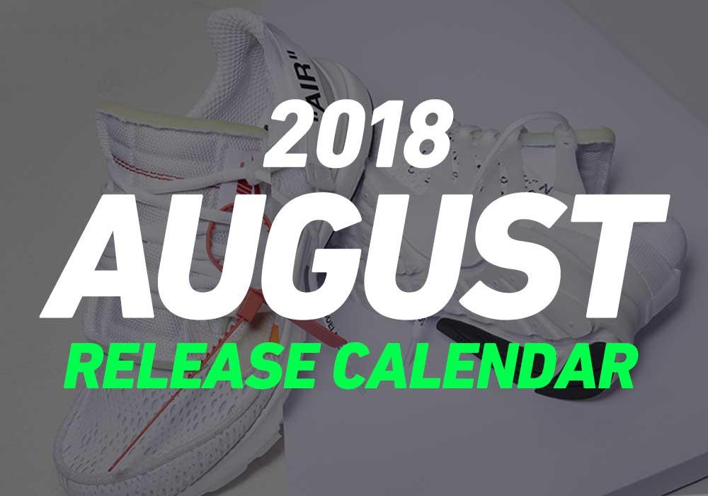 【8月発売スニーカー】2018年8月に発売予定の人気・新作スニーカーカレンダー