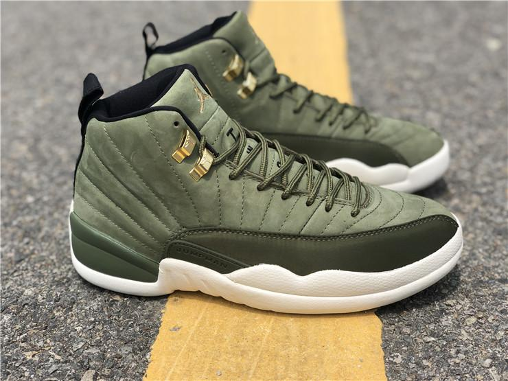 NIKE AIR JORDAN 12 OLIVE CANVAS