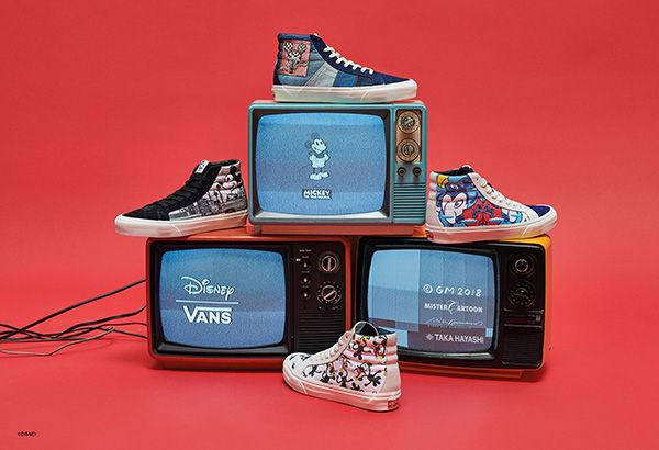 Michey Mouse(ミッキーマウス)が生誕90周年を記念して4種類のVANS(ヴァンズ)とのコラボスニーカーを8月25日に発売!