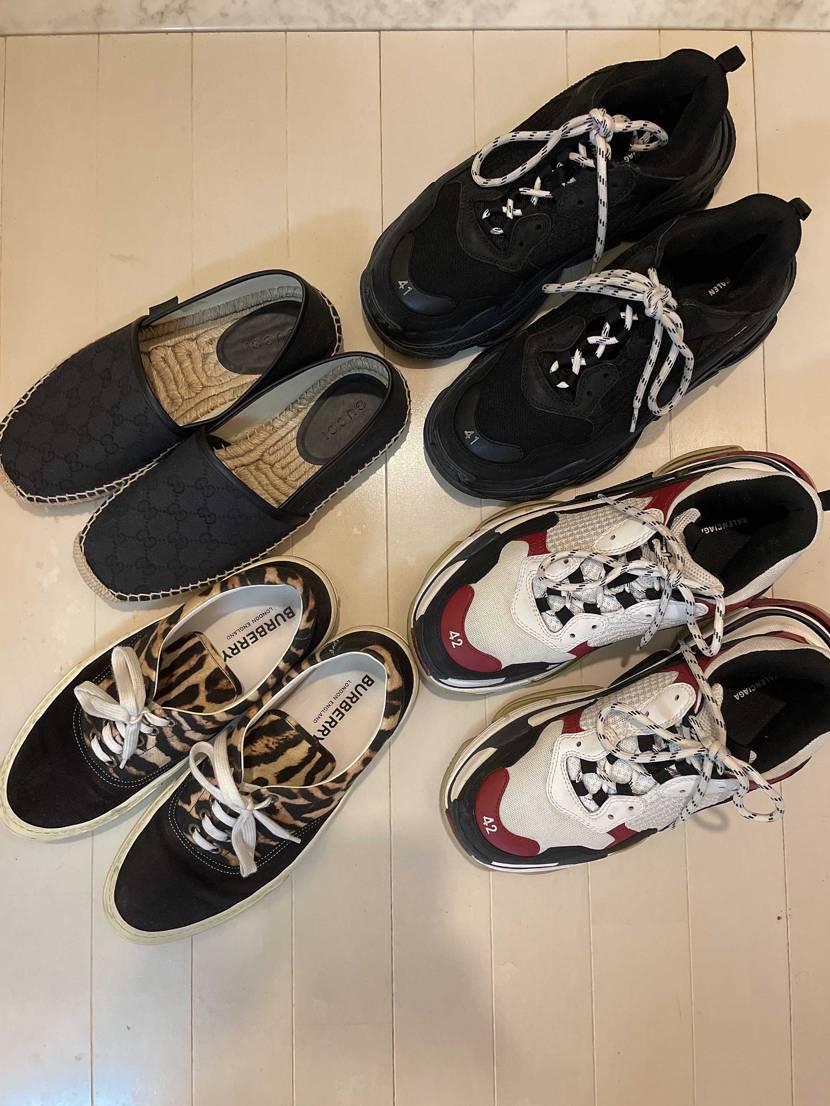 写真1枚目→去年メインで履いていた靴達 写真2枚目→今年メインで履くor履いて