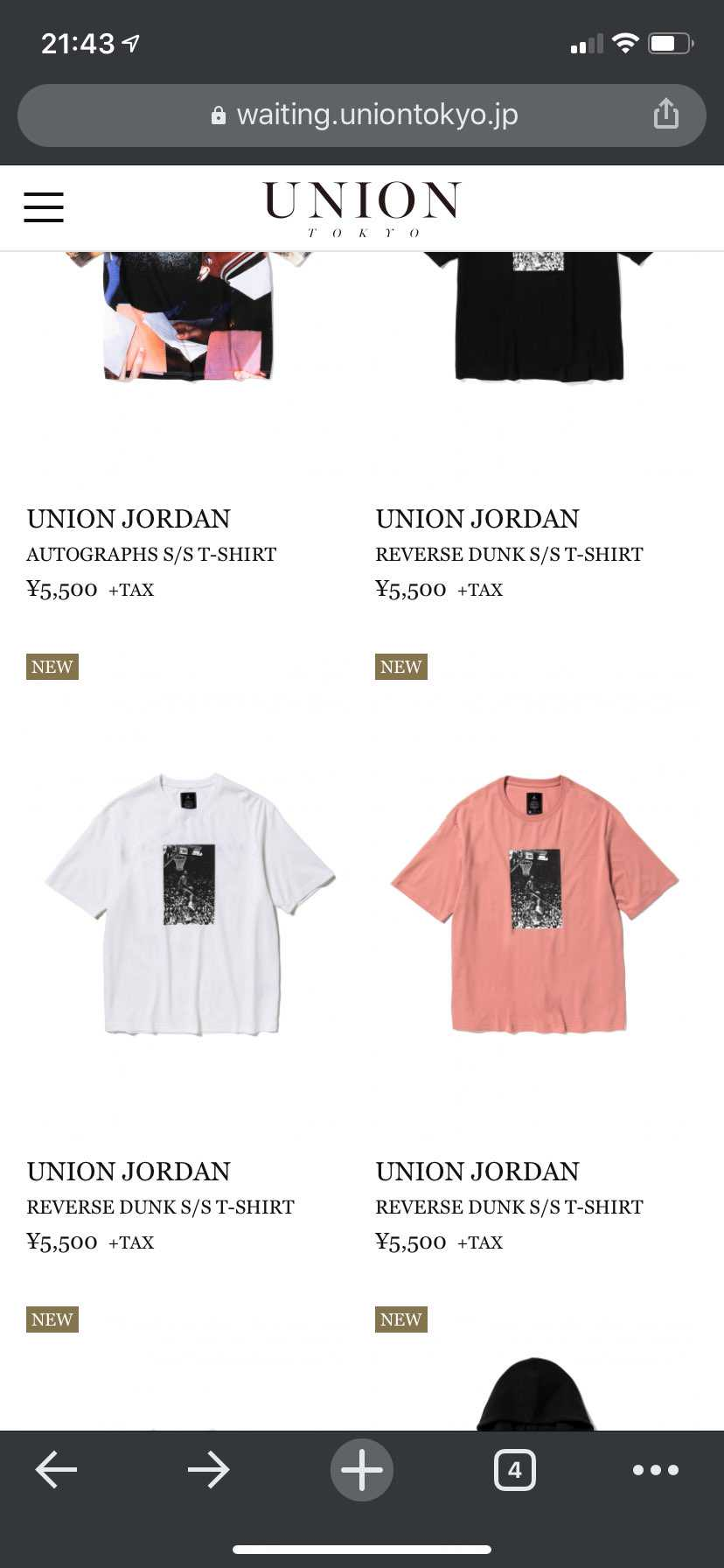 TシャツのPINKだけなんでページないの??
