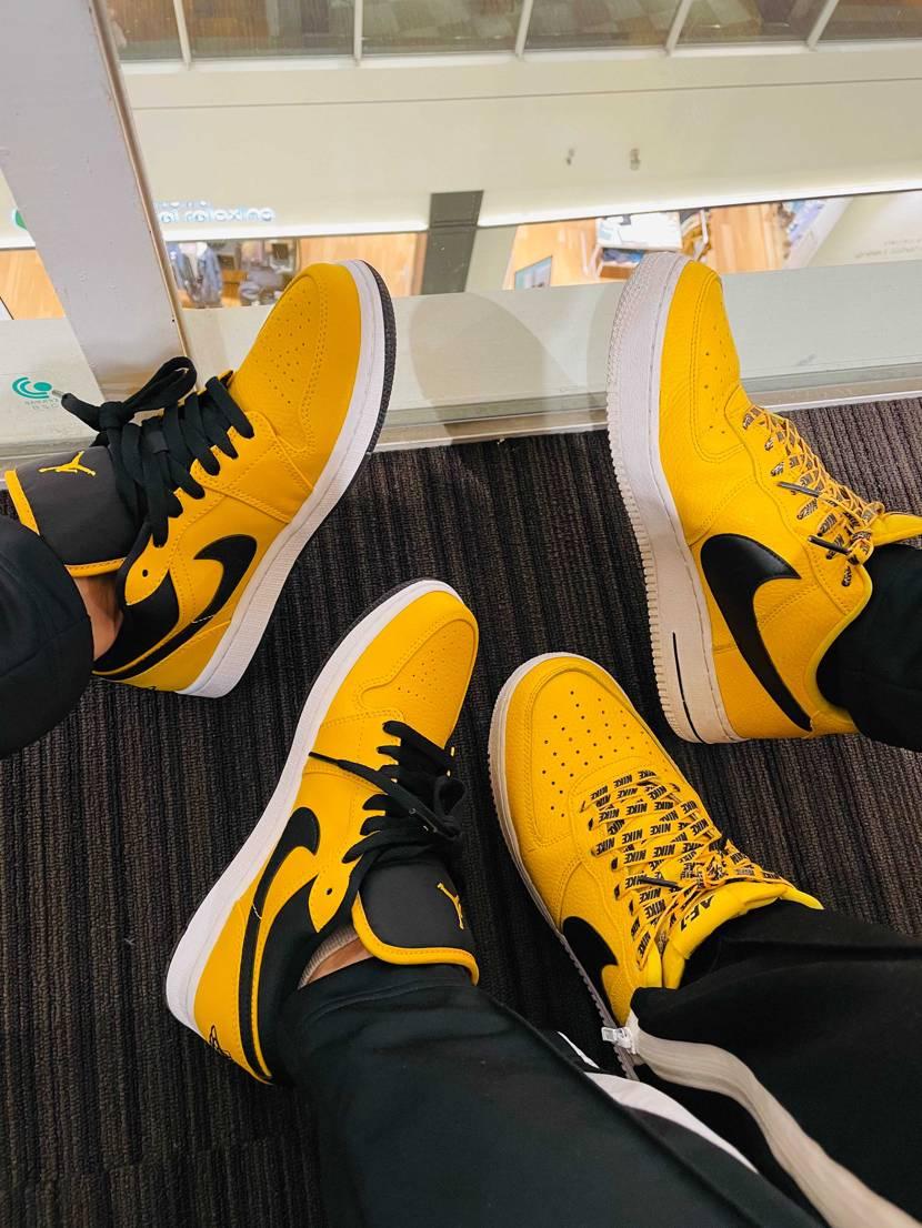 #Double #yellow     #sneaker .    #sneak