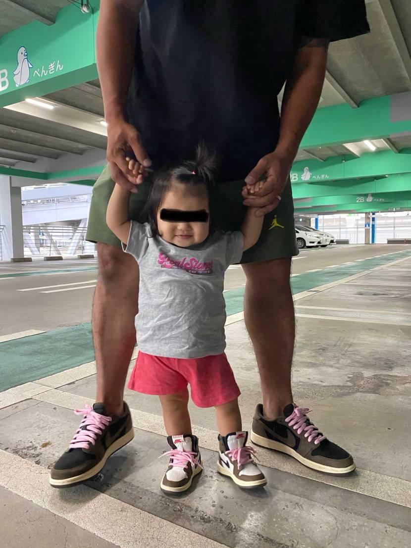 娘と初履き😊 🐯low履きやすい✌️