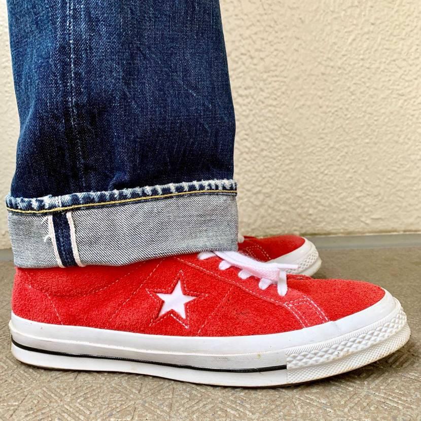 #コンバース #ワンスター #アメリカ企画 赤いスエードのワンスターは所謂アメ