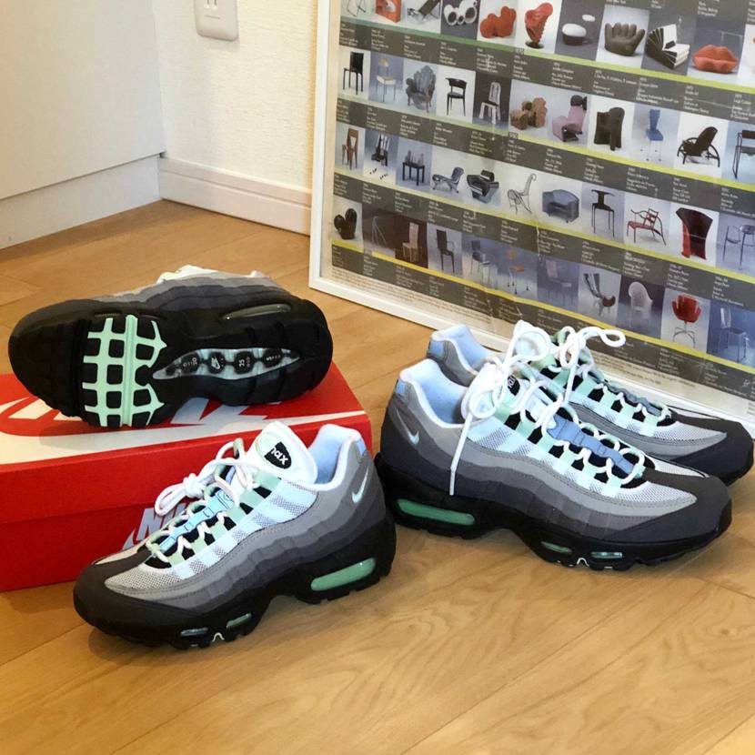 sneakers初ゲット、そして、奥さんの分は初個人輸入のこの一足がちょうど世代