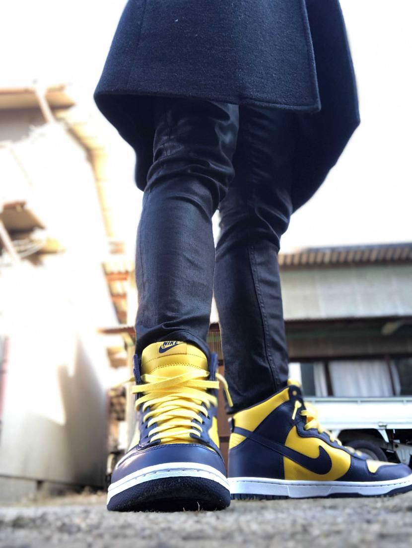 本日の一足&今年の買い納め👟  本日の一足はdunkミシガン(改)の初履き😆