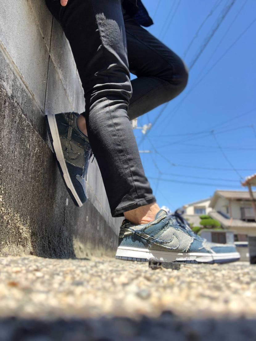 今日は手直しが終わったdunkの初履き…  発売から15年経ってるのにミッド