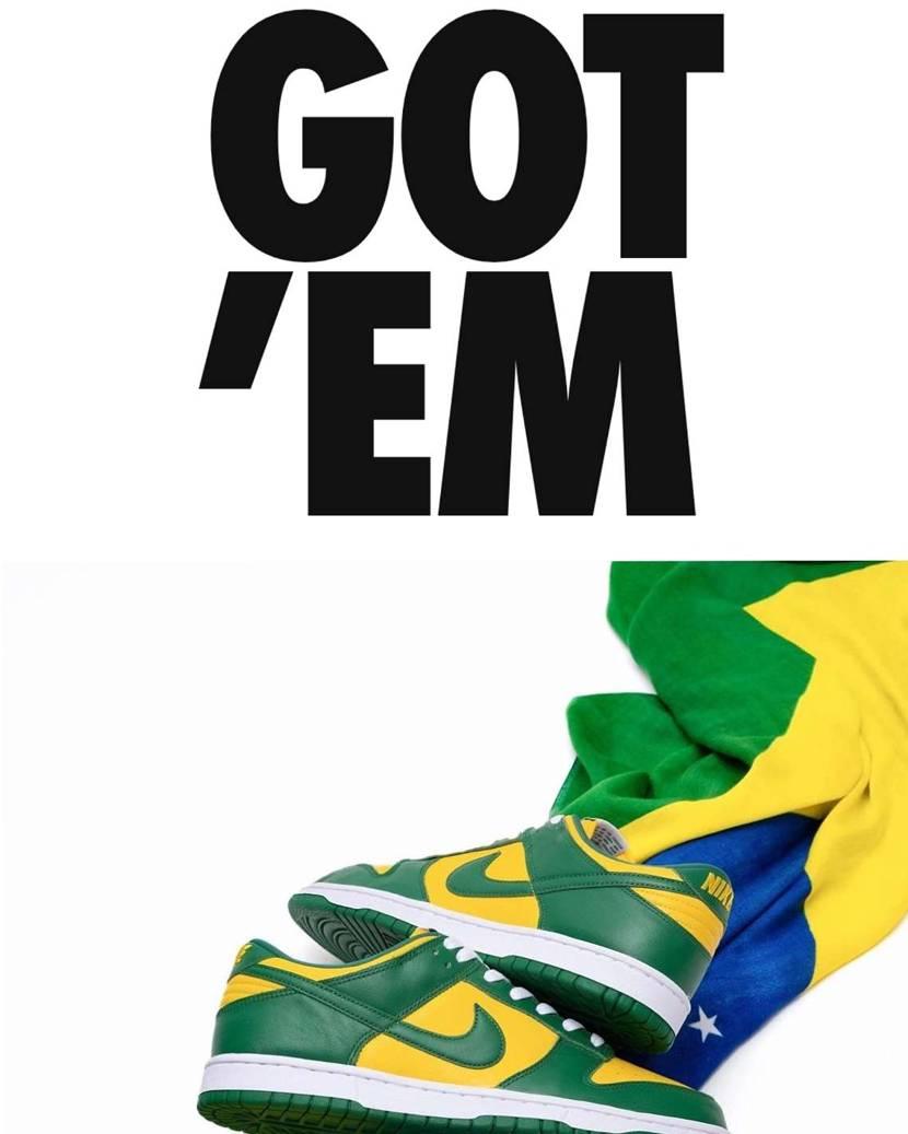 おぉおおぉおー‼️ SNKRSでブラジルダンク買えたぁあぁ🇧🇷‼️ あっ、興奮し