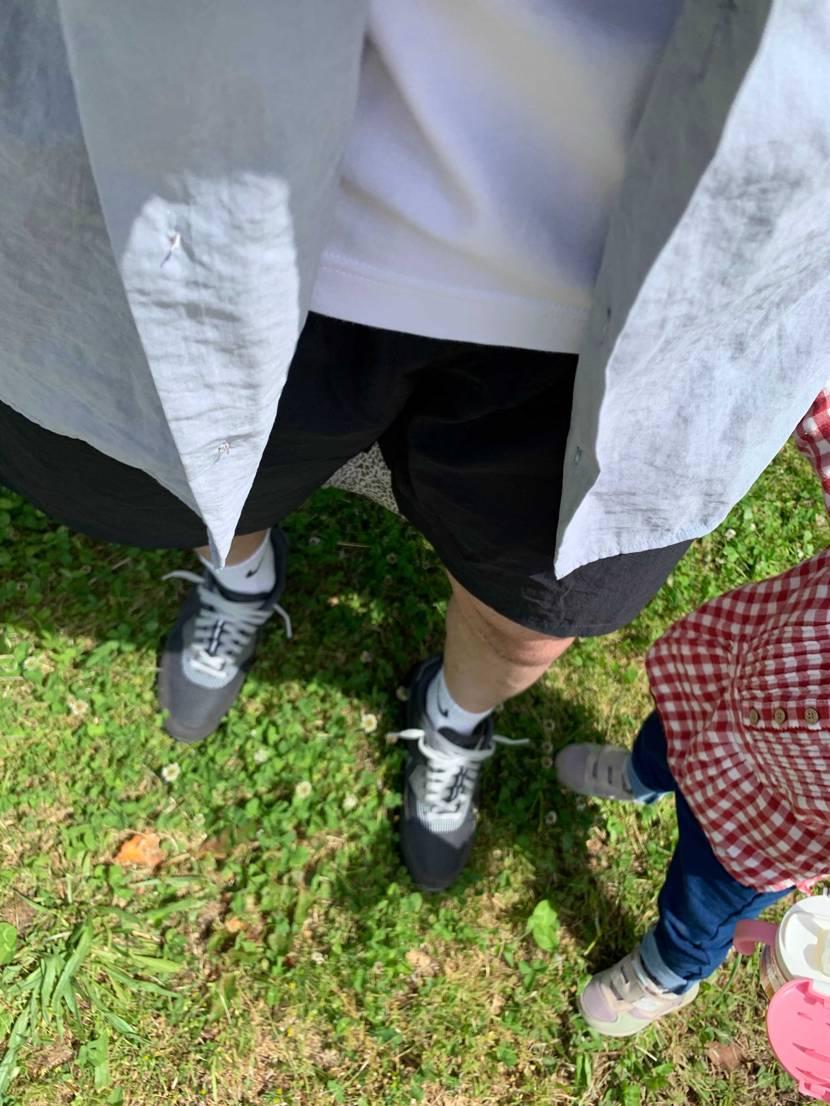 絶好の短パン日和☀️家族で公園へ💨 今日のファッションのテーマはハイパーロイヤ