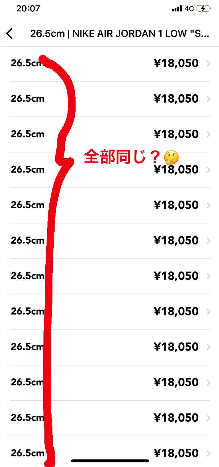 コレめちゃ空出品されてませんか?😂笑 18,050円の同じ金額で68個出てます