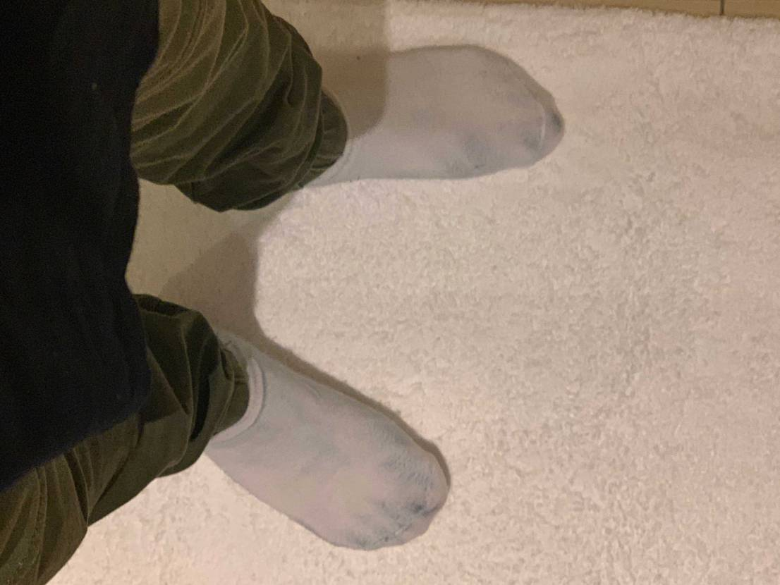 一日履いた新品の靴下