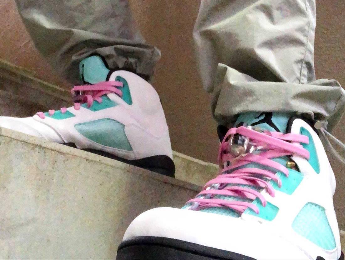 ピンク好きには👌🏻👌🏻💖 #jordan5