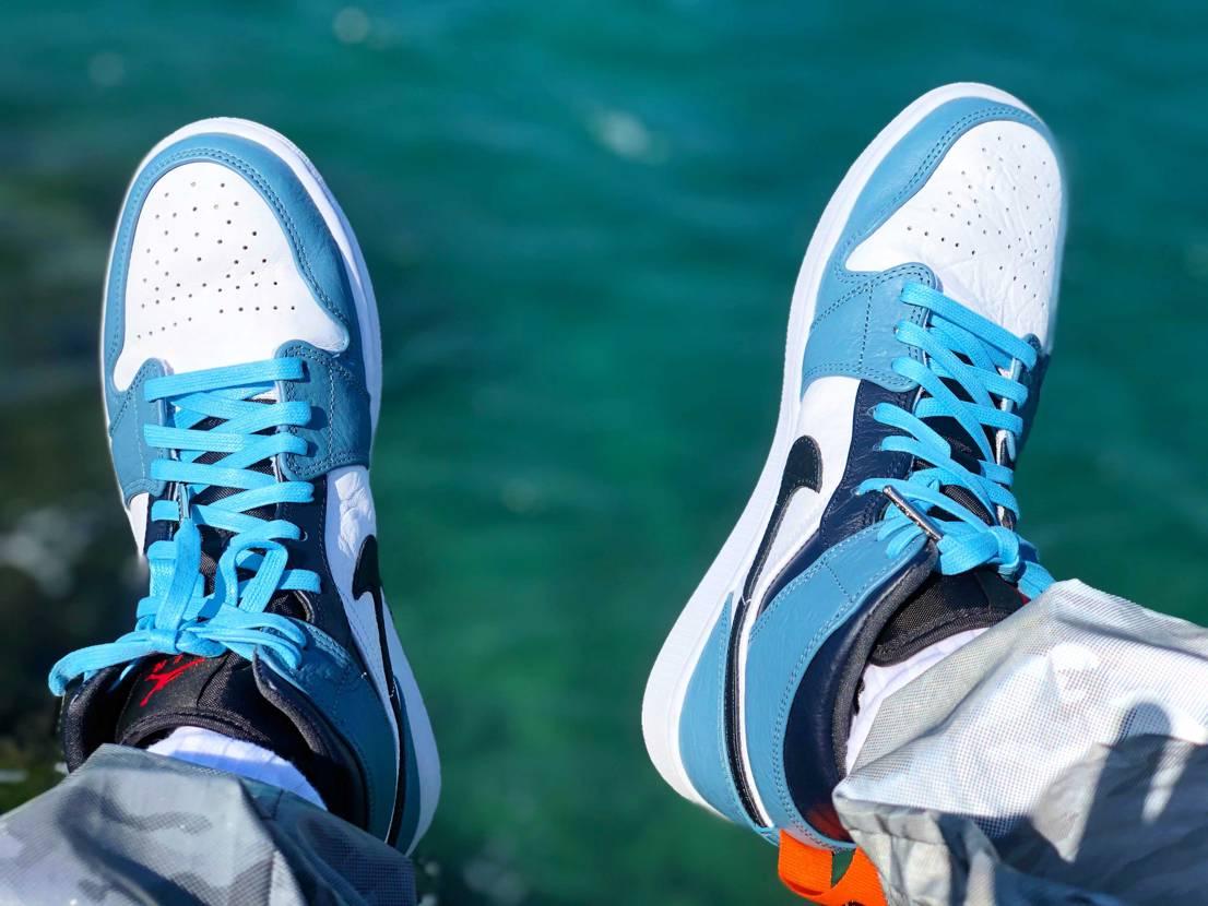 爽やかな色合いになって良い✨🌊👟 #jordan1 #blue #今日の散歩は