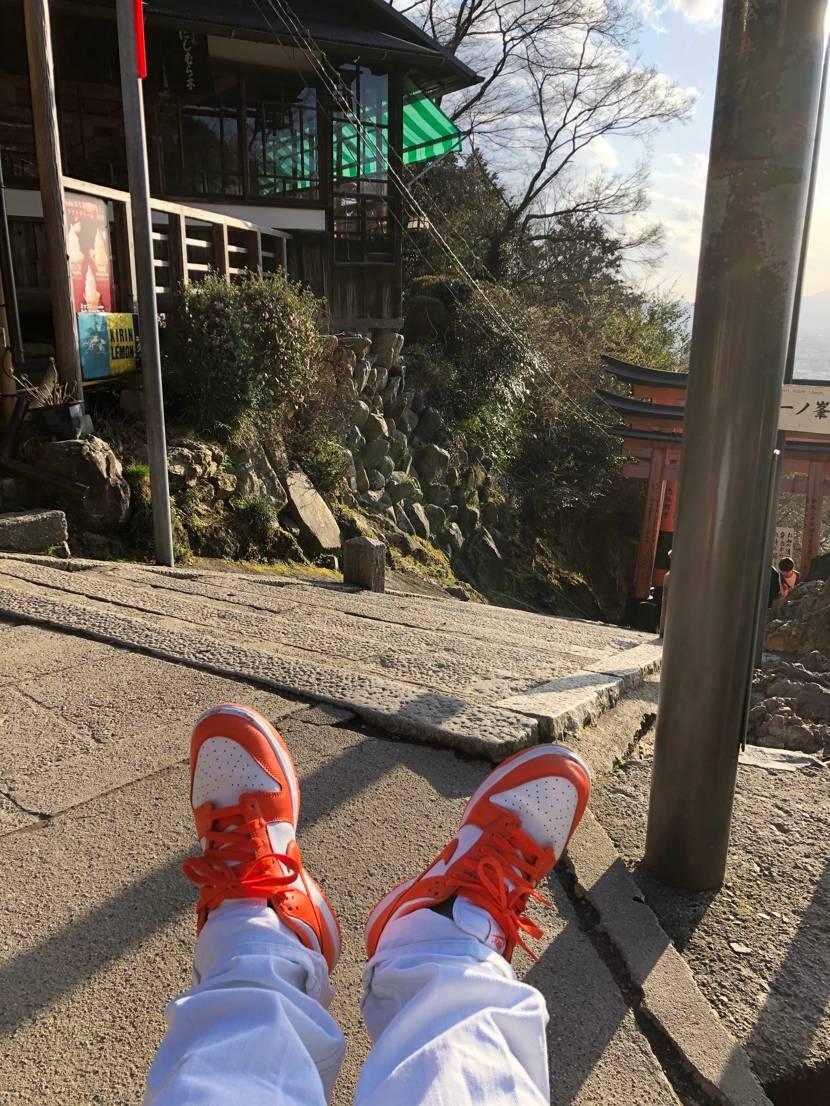 家族で伏見稲荷に行ってきました。  初おろしのダンクで階段いっぱい登ってきま
