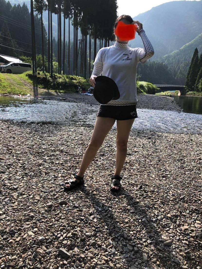 川遊びしてきました。  すいませんがあんまりスニーカーは写ってません。