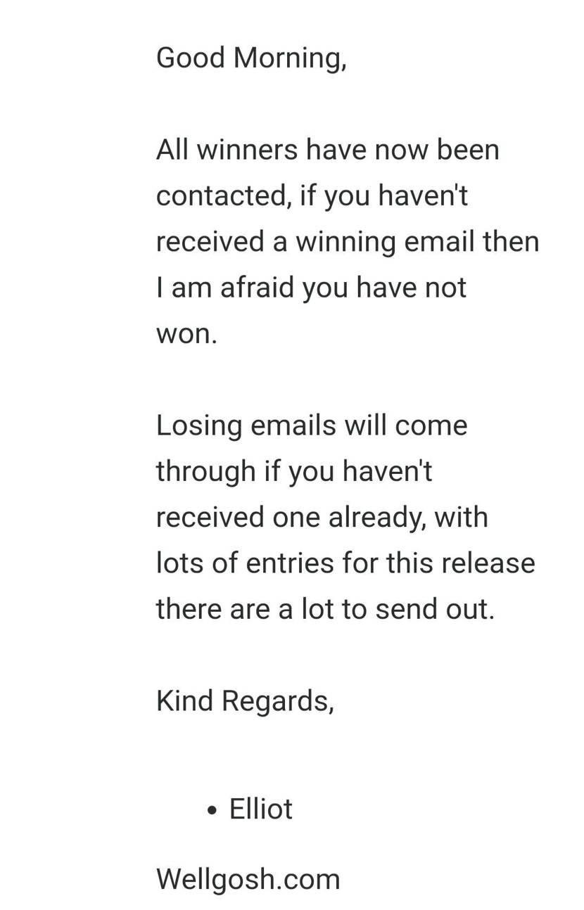 Wellgoshが保留という投稿結構あったので、問い合わせたメール貼っておきます