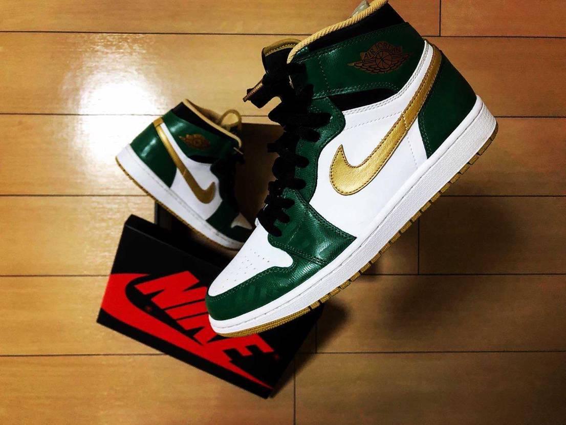 2013年  AIR JORDAN1 R HI OG Celtics  ス