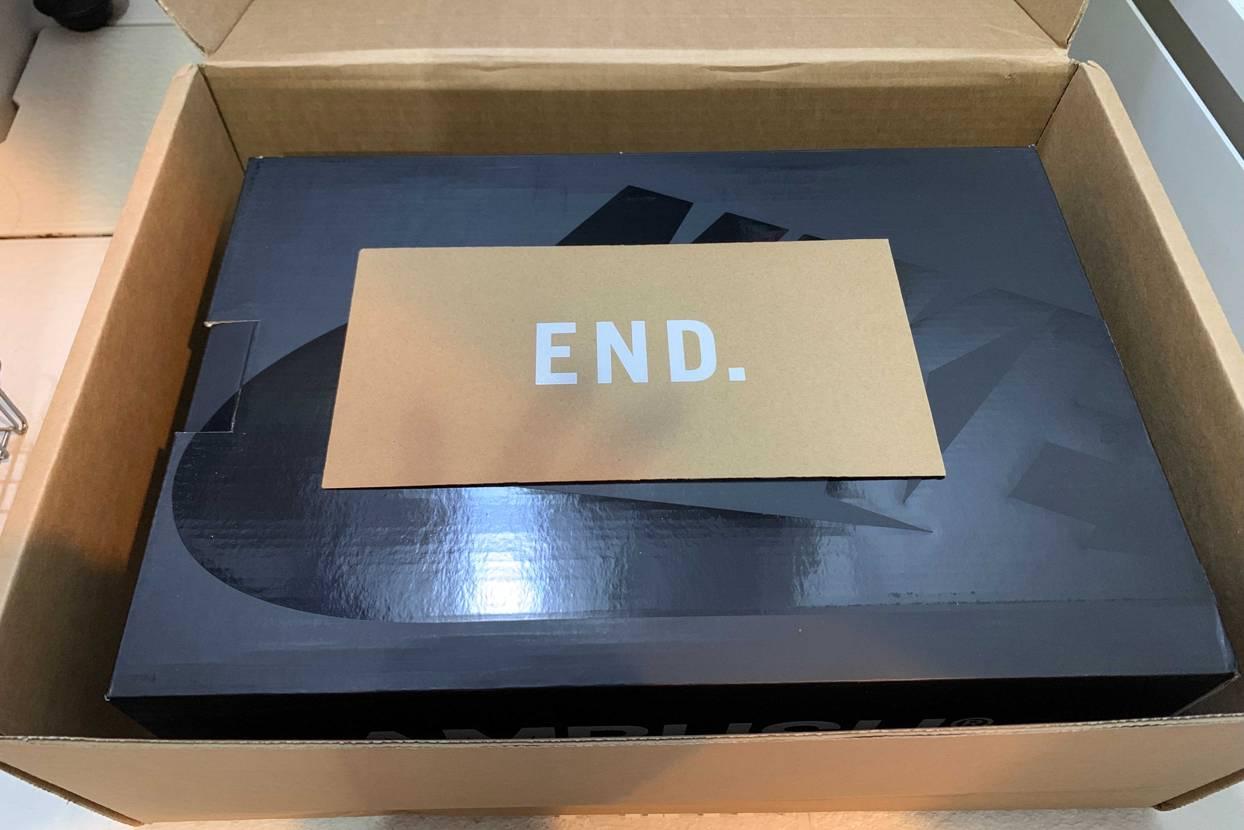 END.から今届きました。 海外なのにatmosより全然早いし梱包も丁寧でした