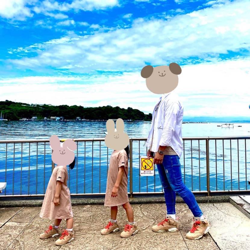 娘達と靴コーデ☺️ 皆さんなら何を一緒に履きたいですか? #nike #Tr