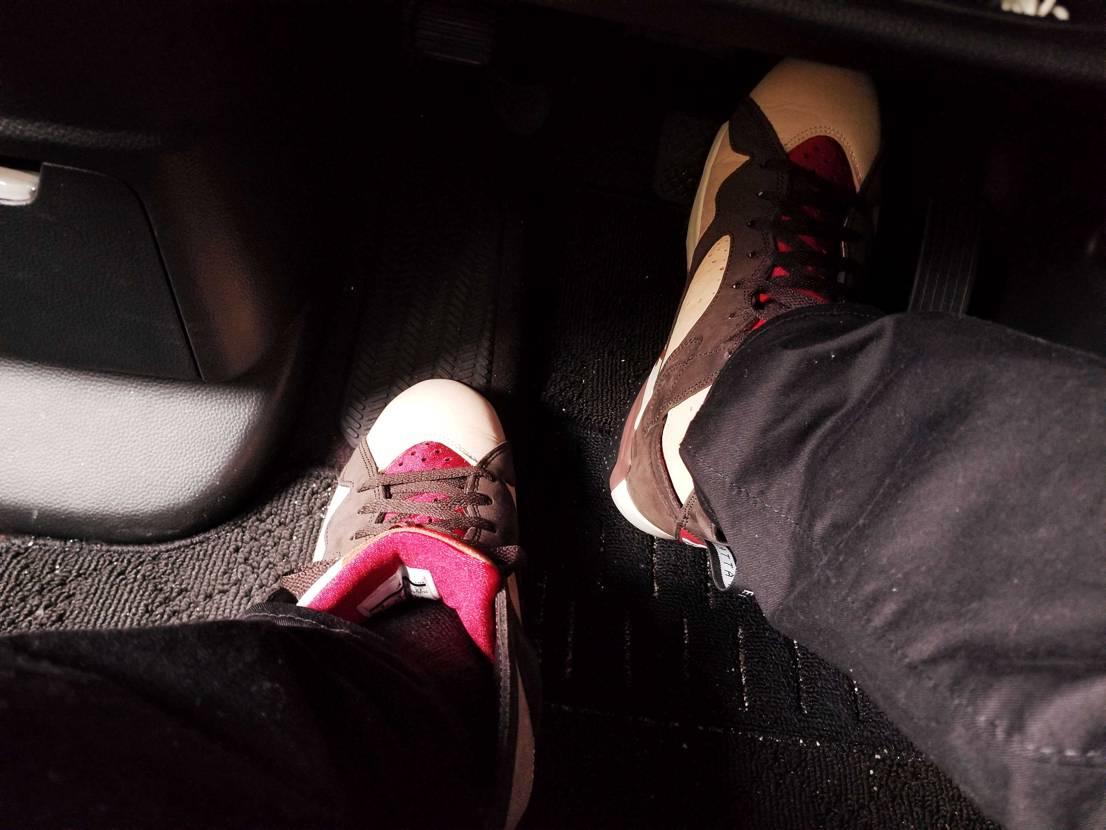 雨でも履いてやるぜ😎 AJ7☺