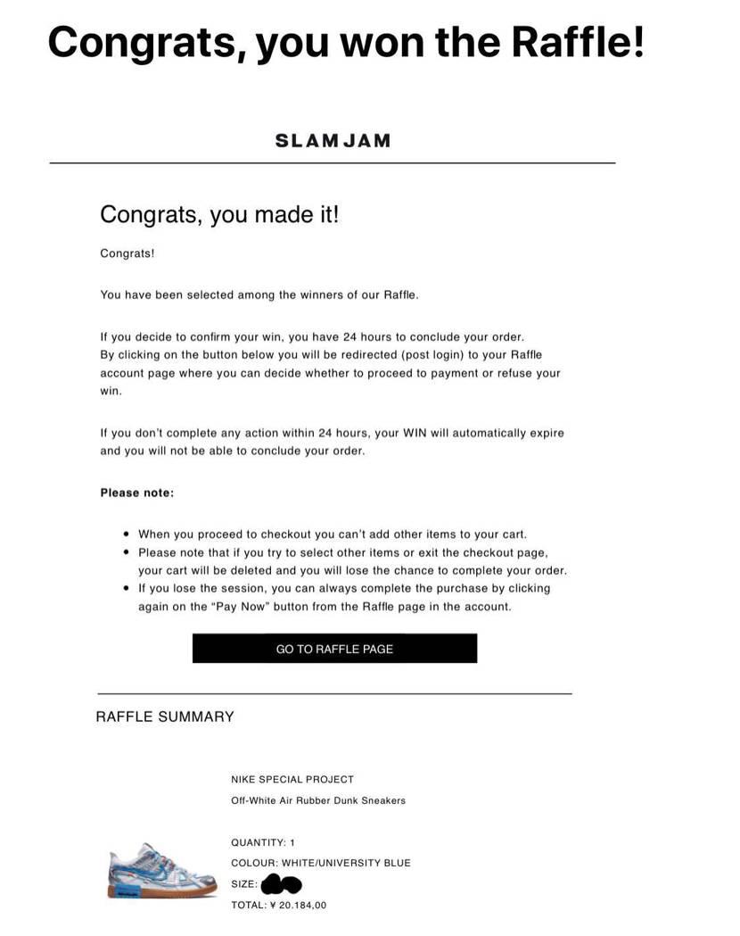 月末ラッシュ全敗でまさかのSLAM JAM当選。 以前は全くだったのに最近は海