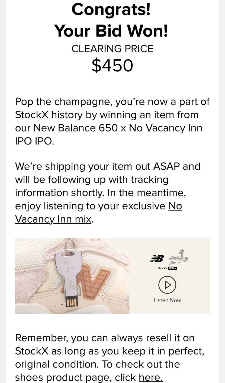 「New Balance 650 x No Vacancy Inn IPO」