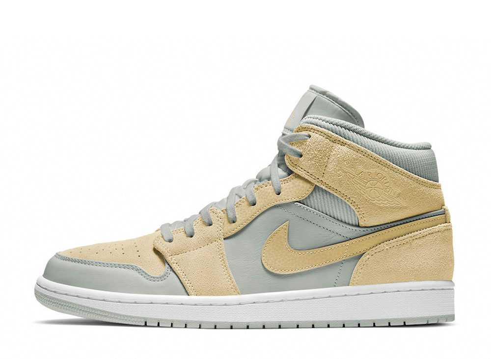 "NIKE AIR JORDAN 1 MID ""MIX MATERIALS"" TAN"
