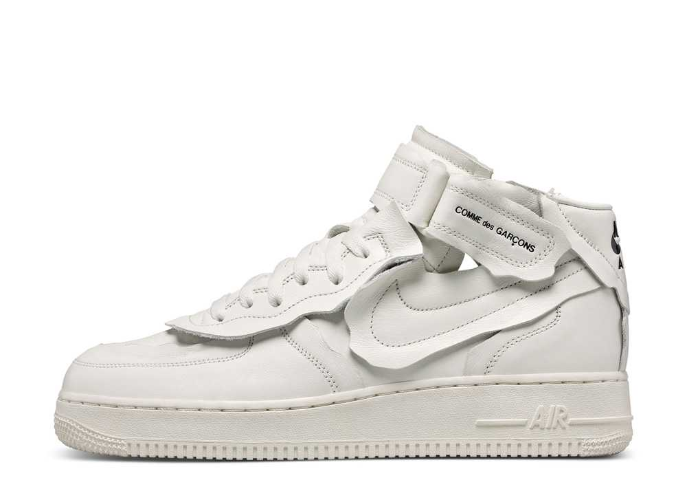 """COMME des GARCONS × NIKE AIR FORCE 1 MID """"WHITE"""""""