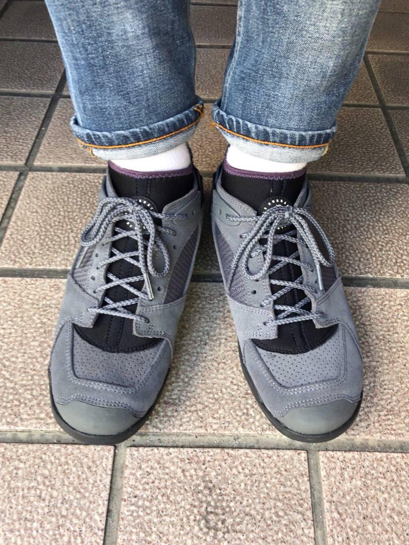 久々のリバデルチ‼️足首周りのフィット感と、程良い硬さのソールは歩き易いから好き