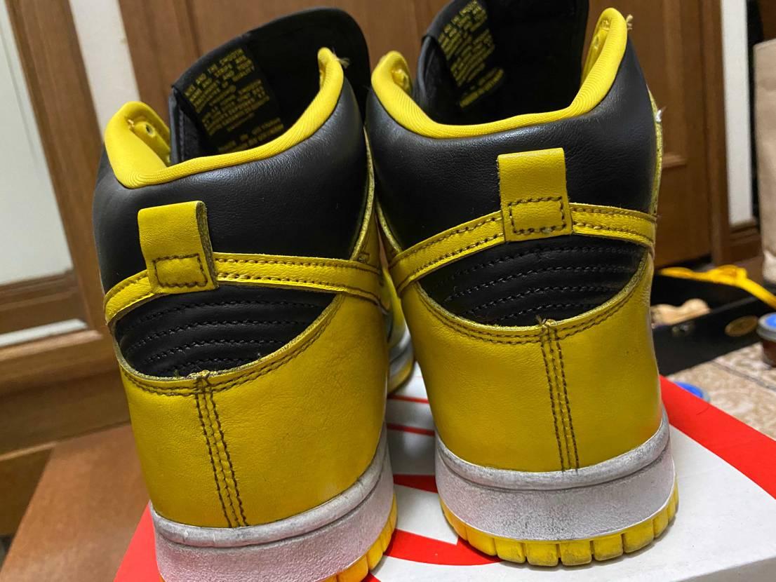 アイオワダンク 黒の靴クリームで磨いてみました。正直写真じ