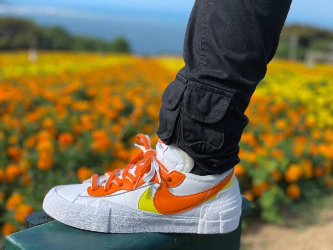 サカイ(マグマオレンジ)可愛い! ちょうど能古島には同じ色のマリーゴールドが咲