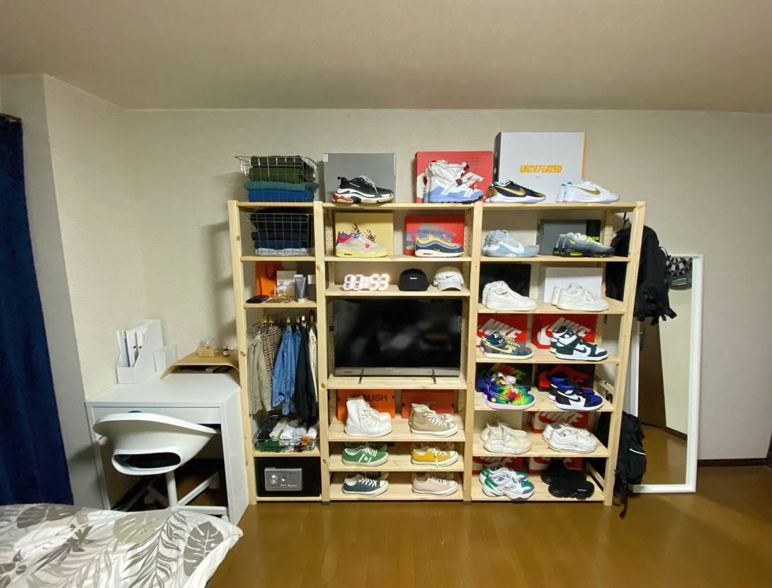 スニーカー棚作りました