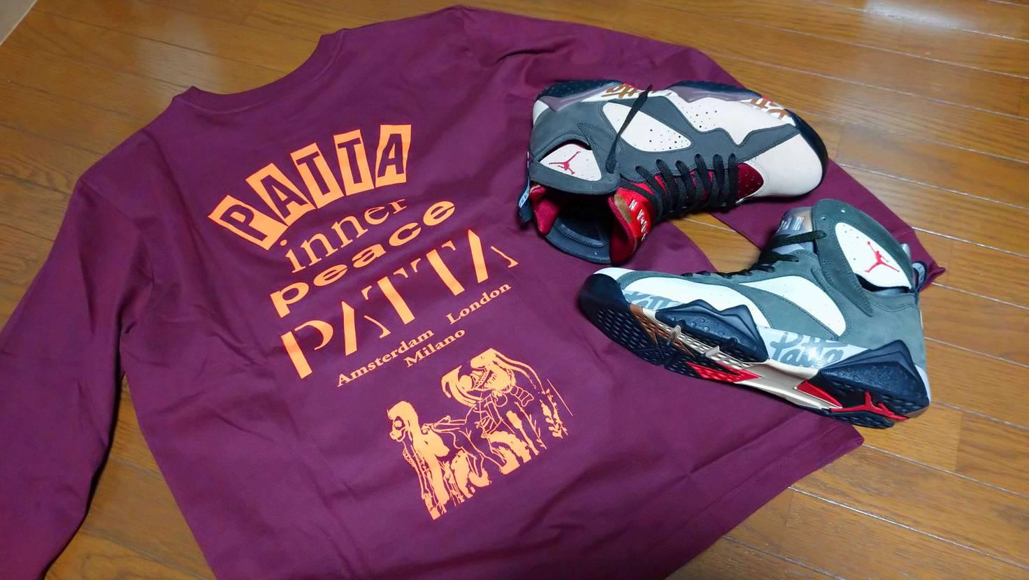 なんとなくpattaの長袖シャツをポチポチしてみました patta-7と一緒にプ